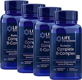 Life Extension BioActive Complete B Complex The Most Complete B Complex Formula 60 Vegetarian Capsules 4-Pak