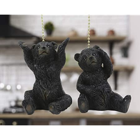 Black Bear Fan Pull Cabin Decor