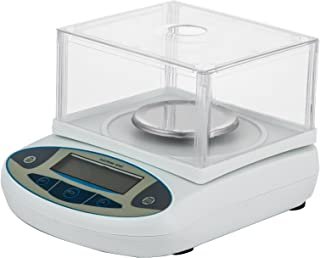 Happybuy Analytical Balance 0-200g Analytical Balance Scale LCD Display Digital Analytical Precision Balance with Glass Draft Shield Analytical Balance Scale Auto-Calibration