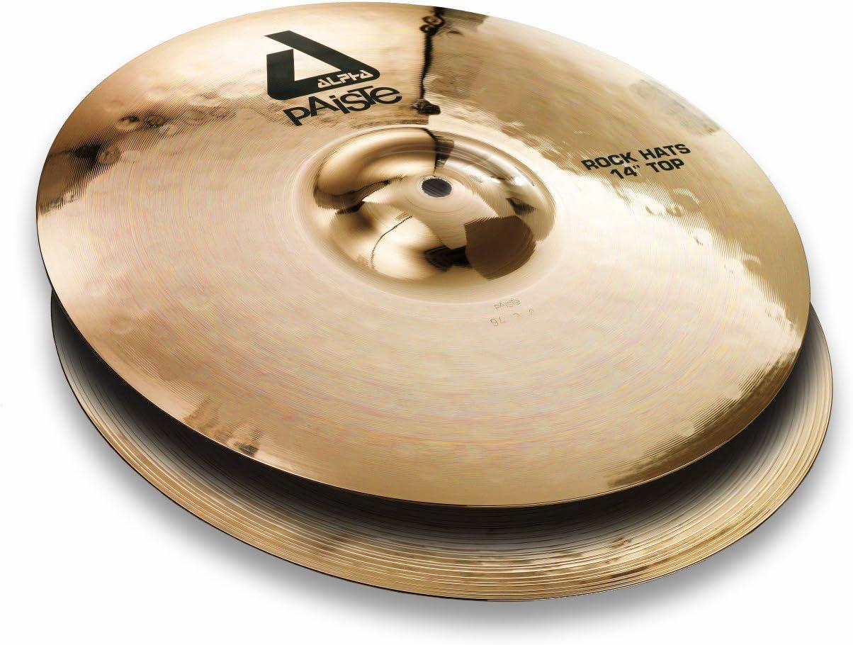 Paiste Alpha Brilliant Cymbal Pair Fort Worth Mall Rock Hi-Hat Tulsa Mall 14-inch