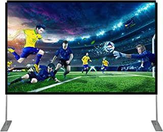 Abdtech 100 inch Projector Screen with Stand,Portable Wrinkle Free Outdoor Movie Screens 4K HD Rear Front Projections Movi...