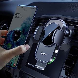 Auckly 15W Qi Chargeur Induction Voiture,Chargeur sans Fil Voiture Rapide Automatic Clamping Porte Clip De Sortie d'air Su...