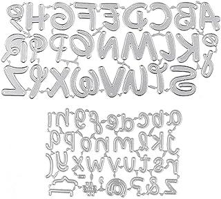 UFLF 2PCS Dies Scrapbooking Alphabet Lettre Matrice de Decoupe en Acier Stencils Pochoir DIY Album Outil de Gaufrage Décor...