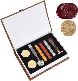 Kit de Tampon de Joint de Cire,Kit Joint de Cire à Cacheter Cachet,Ensemble de Cire à Cacheter,Sceau de Cire avec Poignée ...