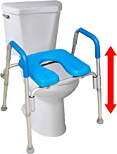 The Ultimate™ Raised Toilet Seat, Voted#1 Most Comfortable. Padded with Armrests...
