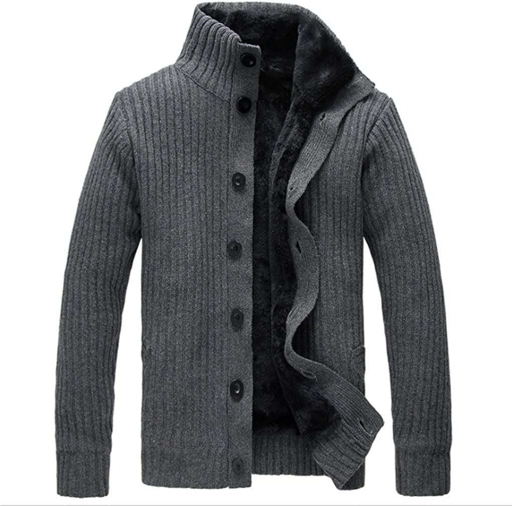 Shanghai Story Men's Cardigans Casual Thicken Knit Slim Sweater Autumn/Winter