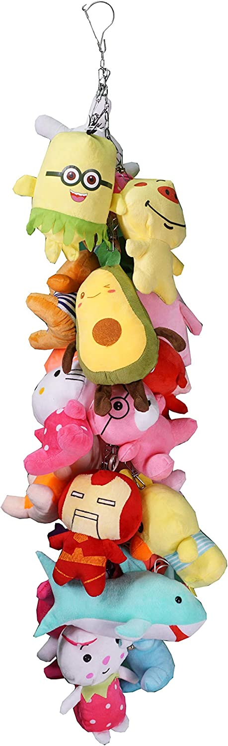 YANDIA Toy Chain Organizer Storage Hang Plush Toys With 20 Stainless Steel Clip 42 Inch (Need to assemble)
