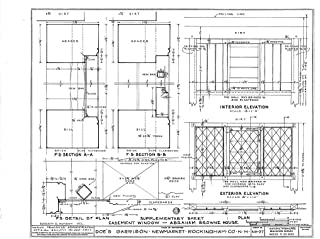 Historic Pictoric Blueprint Diagram HABS NH,8-NEWM,1- (Sheet 23 of 23) - Doe Garrison, Lamprey River & Great Bay, Newmarket, Rockingham County, NH 44in x 32in