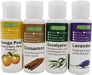 EcoGecko Therapeutic Fragrant Aroma Oil (30 ml) for Water Based Air Purifier Revitalizer Air Freshener, Assorted - 4 Pack