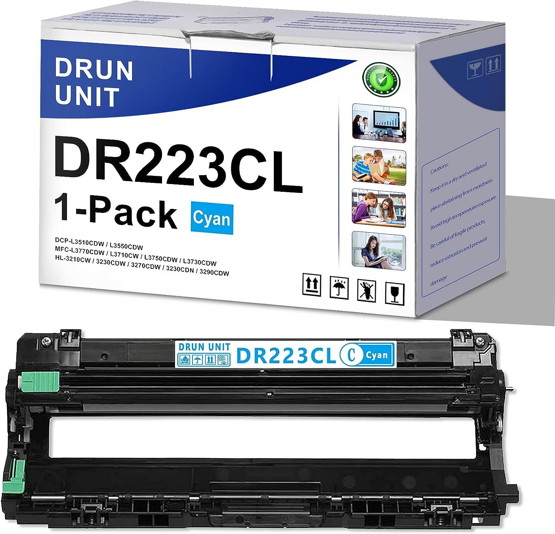 [1 Pack,Cyan] DR223CL Drum Unit DR-223CL Compatible ReplacementforBrother HL-3210CW 3230CDW 3270CDW 3230CDN 3290CDW MFC-L3770CDW L3710CW L3750CDW L3730CDW DCP-L3510CDW L3550CDW Printer Drum Unit