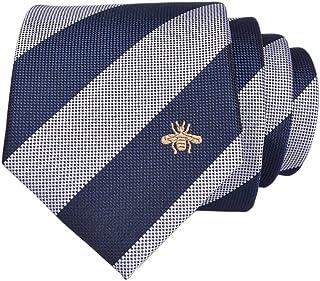 LUISDAN Stripe Tie Jacquard Woven Microfiber Formal Men's Neckties - Various Styles