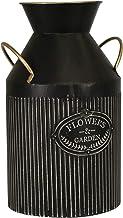مزهرية حديقةبمقبض من Sagebrook Home 15029-02 معدنية 35.56 سم، أسود، 8 x 8 x 14