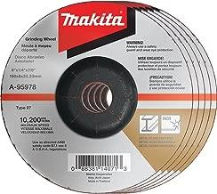 Makita A-95978-5 36 Grit INOX Grinding Wheel (Pack of 5), 6