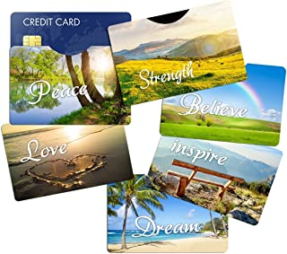 RFID Blocking Sleeves Credit Card Holder (6) Designer Protectors - Identity Theft Protection - Great Gift Idea