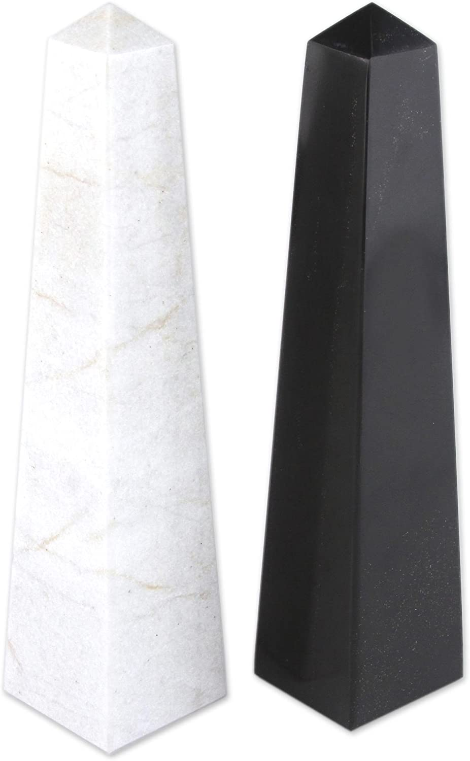 NOVICA 210535  Day and Night 2 Piece Onyx Obelisks Sculpture