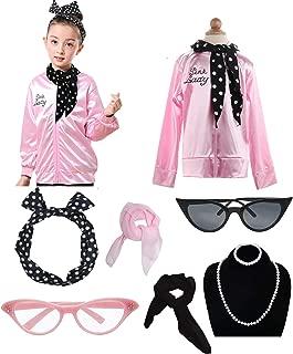 Dancing Stone Child Girls 50's Jacket Costume with Headband