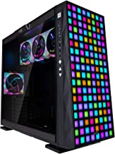 InWin 309 Addressable RGB Front Panel with 4 ARGB Fans - Tempered Glass Side Panel - ATX Mid Tower Gaming Computer Chassis Case