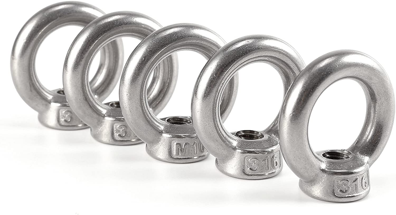 5st M6 Ringmutter Augbolzen Ringmuttern Ring Oese Mutter Edelstahl Ringmuttern Stahl Oesenschraube Baumarkt
