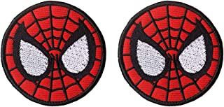Antrix 2 Pcs Tactical Marvel Comics Avengers Spiderman Logo Applique Patch Hook and Loop Military Superhero Spiderman Badge Morale Patch - Dia.3.15