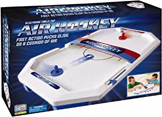 International Playthings Game Zone -  Electronic Table-Top Air Hockey - Fast-Paced Sports Fun in an Easily Portable Battery-Operated Rink for Ages 5 and Up