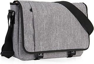 Hynes Eagle Men Crossbody bag Casual Shoulder Bag Laptop Messenger Bag for 15 inch Light Gray