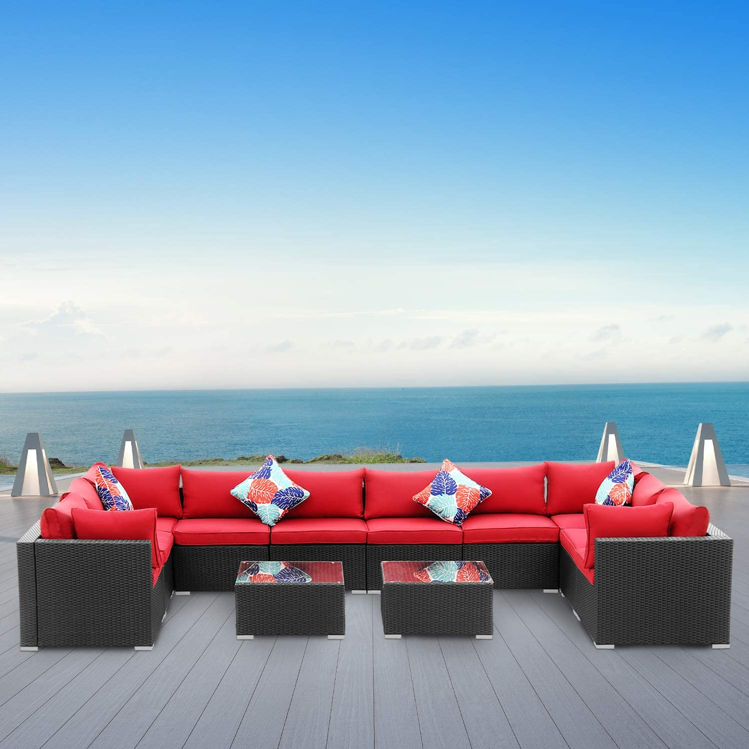 Wonlink 12 Pieces Patio Furniture Selling Furnitu Set Inexpensive Outdoor Sectional