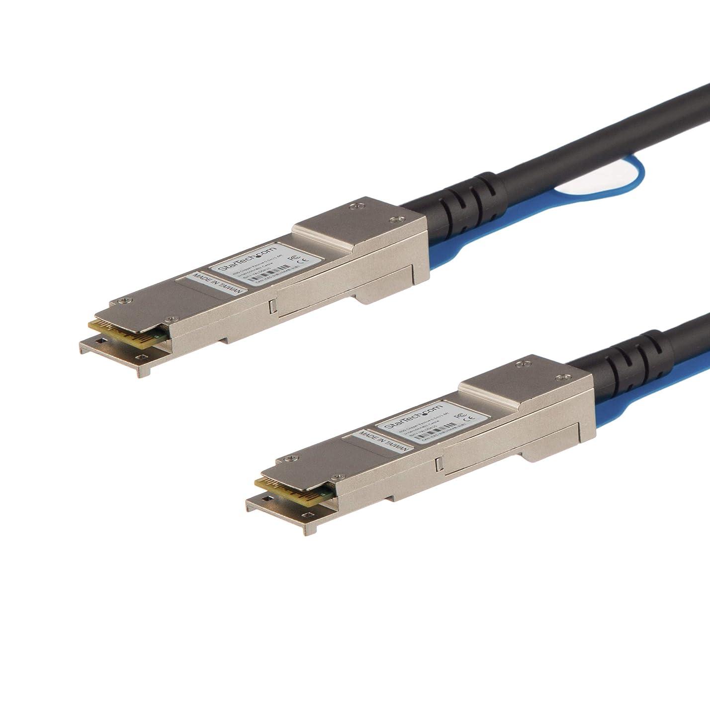 脚本家勉強する雇ったStarTech.com QSFP+ DAC Twnax ケーブル 1m Cisco製QSFP-H40G-CU1M互換 40GbE パッシブダイレクトアタッチケーブル QSFPH40GCU1M