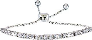 landau Women's Adjustable Pull Chain Tennis Bracelet