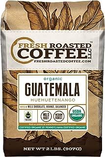 Fresh Roasted Coffee LLC, Organic Guatemalan Huehuetenango Coffee, Medium Roast, USDA Organic, Fair Trade, Whole Bean, 2 Pound Bag