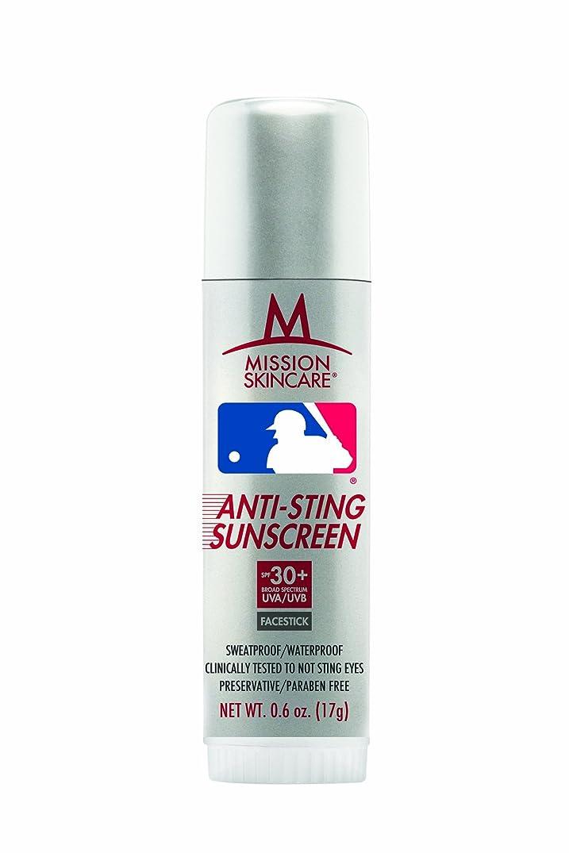 マイクロ以下成果MLBメジャーリーグnoスティング日焼け止めFacestick SPF 30?+、0.6-ounceスティック