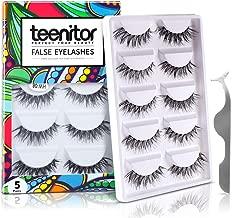 Teenitor 10 Pair Crisscross False Eyelashes Lashes, Nature Looking Fake Eyelashes Set For Women Girls, Comes With Free Fake Eyelash Applicator