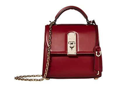 Salvatore Ferragamo Boxyz Satchel (Carmine) Satchel Handbags