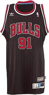 adidas Dennis Rodman Chicago Bulls NBA Throwback Swingman Jersey - Black