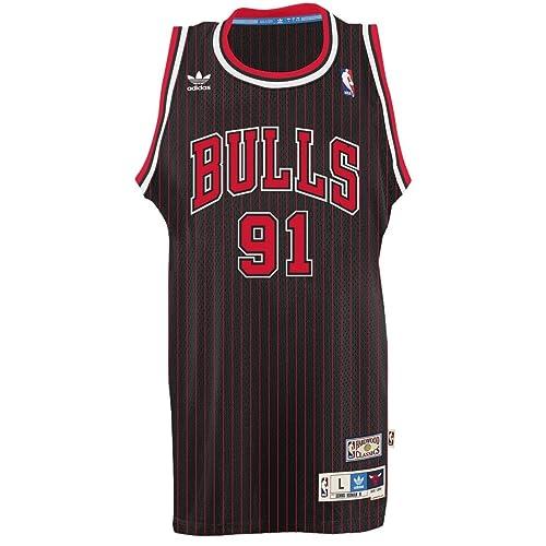 8a09a580d3f5 adidas Dennis Rodman Chicago Bulls NBA Throwback Swingman Jersey - Black