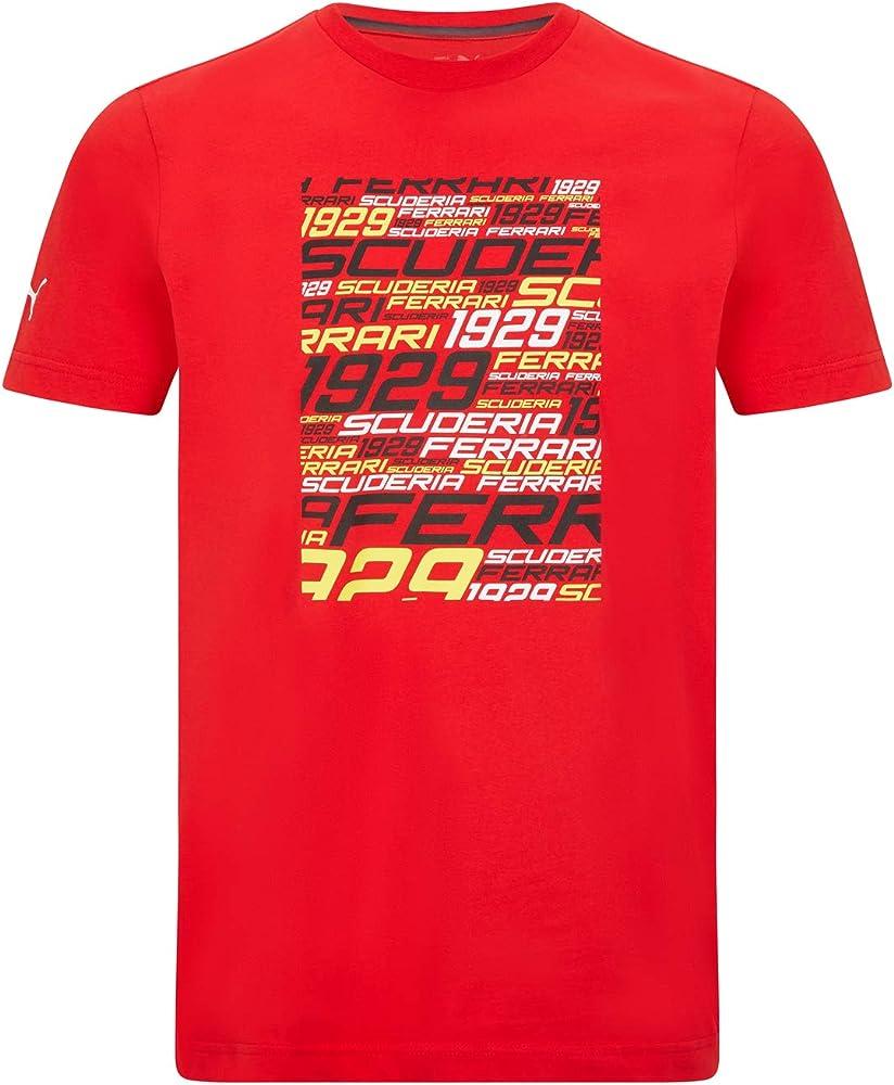 Ferrari polo maglietta a maniche corte per uomo100% cotone collezione ufficiale formula 1 merchandise 701210910