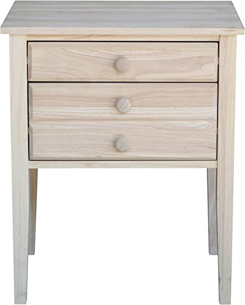 International Concepts OT 66 Accent Table With Drawers Unfinished