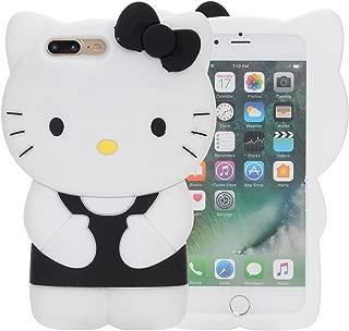 iPhone 7 Plus Case, iPhone 8 Plus Case, Phenix-Color 3D Cute Cartoon Soft Silicone Hello Kitty Gel Back Cover Case for Apple iPhone 7 Plus 2016 / iPhone 8 Plus 2017 Case Amp Prime (21)