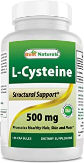 Best Naturals L-Cysteine 500 mg 180 Capsules (New Improved Formula)