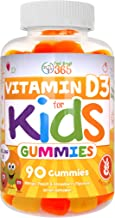 Vitamin D3 1000IU Pectin Gummy Vitamins for Kids (90 Day) by Feel Great 365   90 Gummies   Delicious Chewable Supports Healthy Bones, Teeth, Mood, Immune System Function*   Gluten Free & Non-GMO