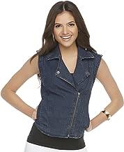 Kardashian Kollection Denim Moto Jacket, XS
