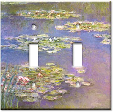Double Gang Toggle Wall Plate - Monet: Water Lilies
