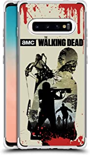 Official AMC The Walking Dead Daryl Full Silhouettes Silver Shockproof Fender Case Compatible for Samsung Galaxy S10+ / S10 Plus
