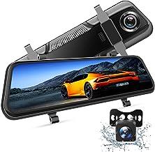 """VanTop H609 Dashcam Rückspiegel, FHD 1080P Dashcam Auto vorne hinten, mit 10""""IPS.."""