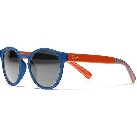 Chicco - Gafas de Sol Infantiles Para Niños De 3 años, Con Montura flexible y Lentes Anti Arañazos, Color Azul Redondas
