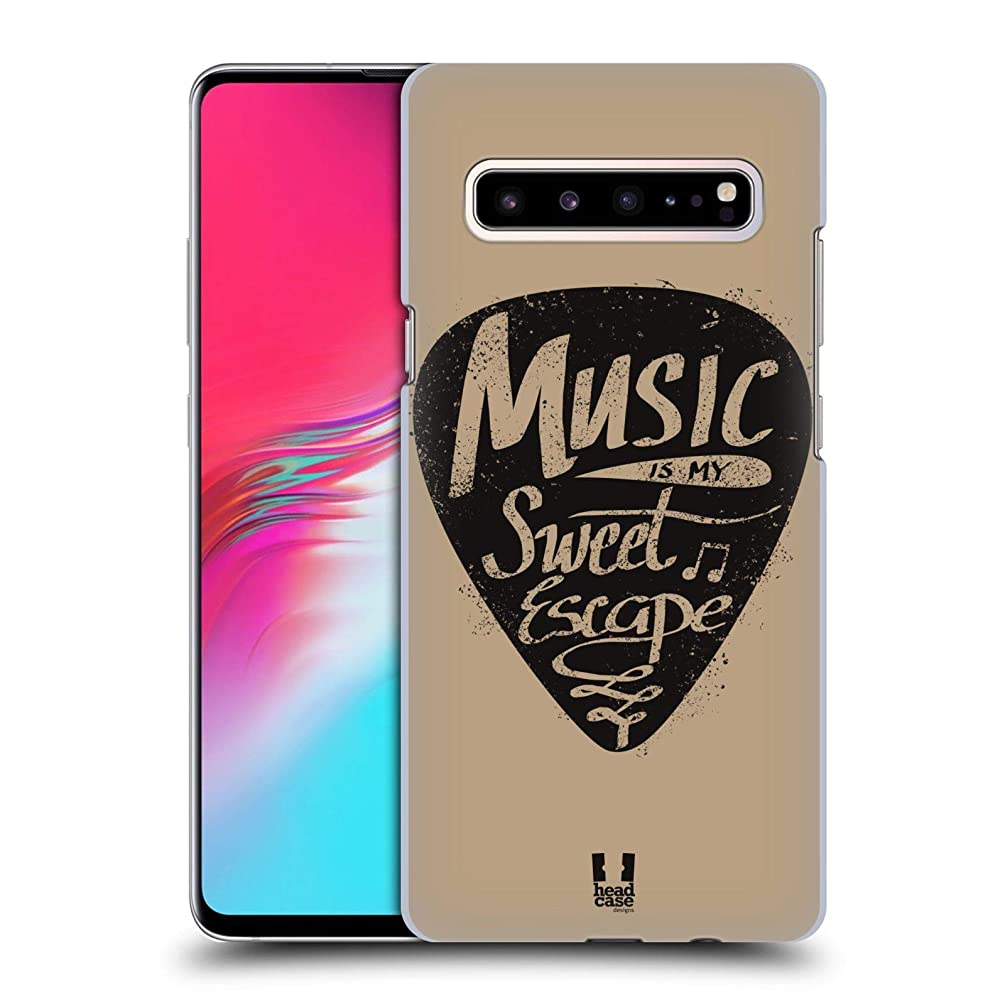 Head Case Designs Guitar Pick Power of Music Hard Back Case Compatible for Samsung Galaxy S10 5G
