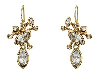 Alexis Bittar Navette Crystal Cluster Wire Earrings (10K Gold) Earring