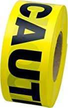 INCOM Manufacturing: Yellow CAUTION Tape Barrier- Safety Warning Tape, 3 Inch x 1000 Feet, (76.2 Millimeters x 304.8 Meters)