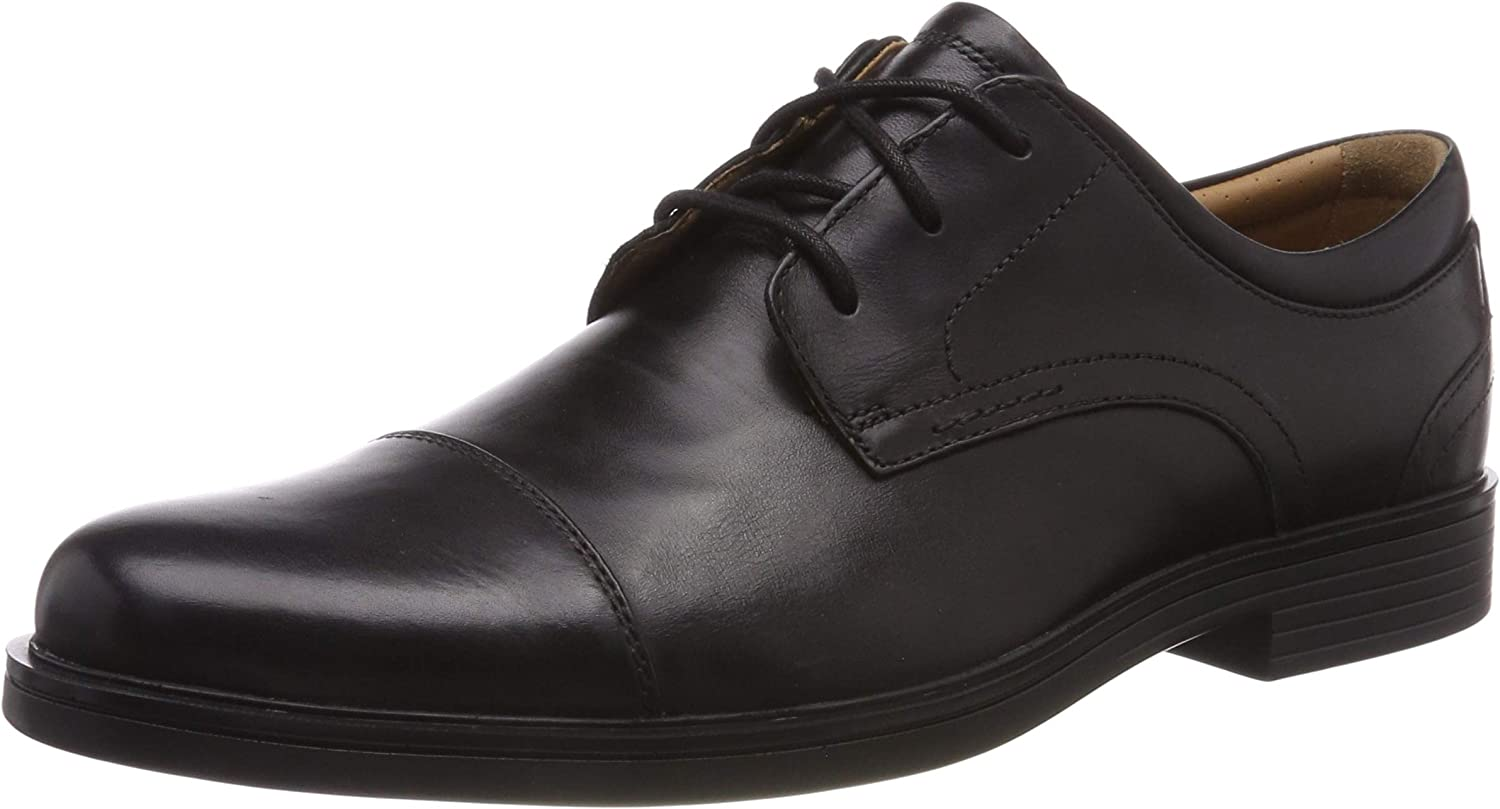 Clarks Men's Un Aldric Cap Derbys Black
