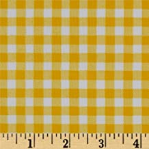 OilCloth International Oilcloth Gingham, Yard, Yellow