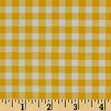 yellow gingham oilcloth